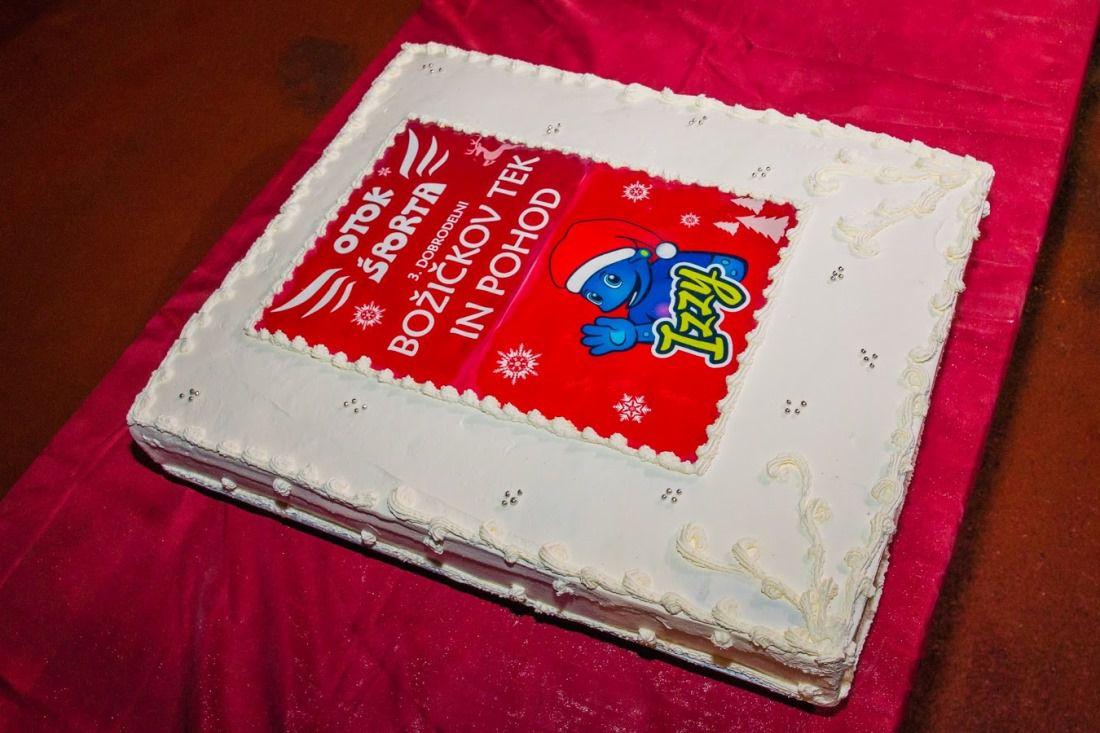 božičkov tek torta otok športa